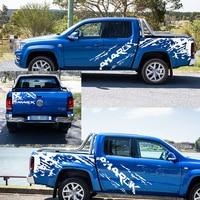 mudslinger side door stripe graphic Vinyl 4x4 off road car sticker for AMAROK 2009 2018