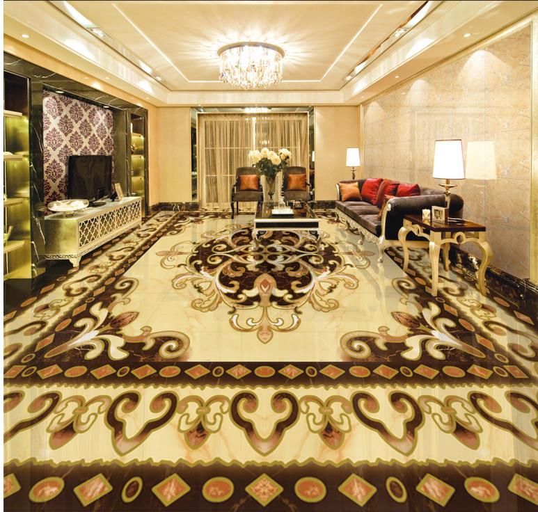 ФОТО waterproof wallpaper for bathroom 3d Continental stone parquet floor pvc self-adhesive wallpaper floor 3d wallpaper