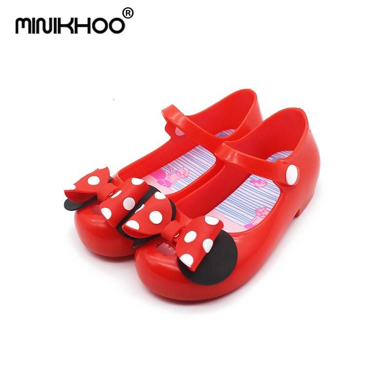Mini Melissa 2018 New Children Flowers Brazilian Jelly Sandals Baby Jelly Sandals Buckle Cute Shoes Princess Sandals Beach Shoes