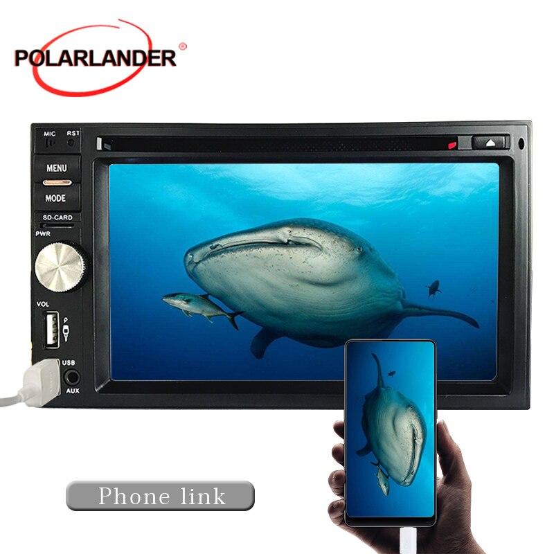 Horloge HD MP3 grand écran Bluetooth 6.5 pouces 1080 P format vidéo double broche commandes au volant FM rétro-éclairage 7 couleurs