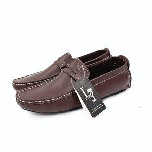 Image 5 - Große Größe Männer Müßiggänger Schuhe Leder 2020 Mode Männer casual Schuhe Männer Wohnungen Slip Auf Plus Größe 38 48 männer Mokassins Wohnungen
