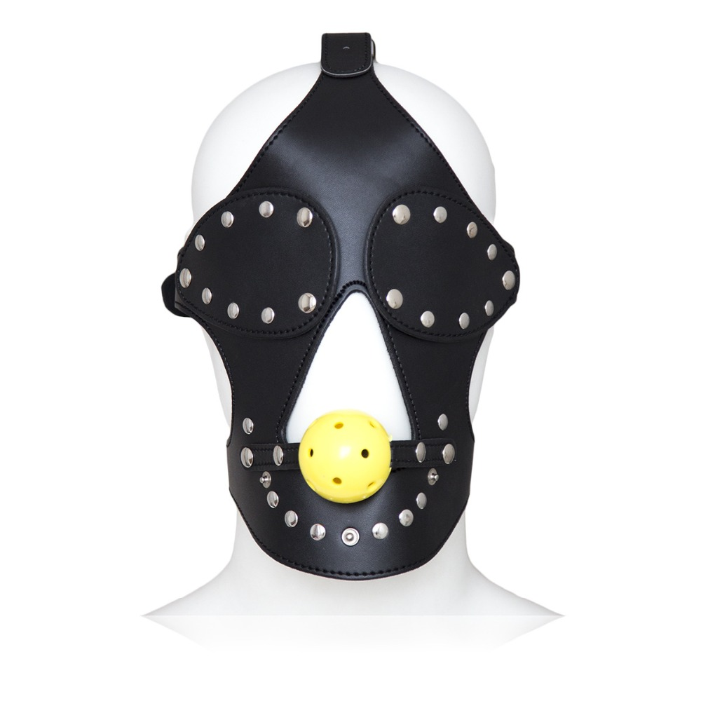 Slave Masks Hood Ball Gag Sex Product Adult Toy Bondage SM Men Women Party Sexy Masks