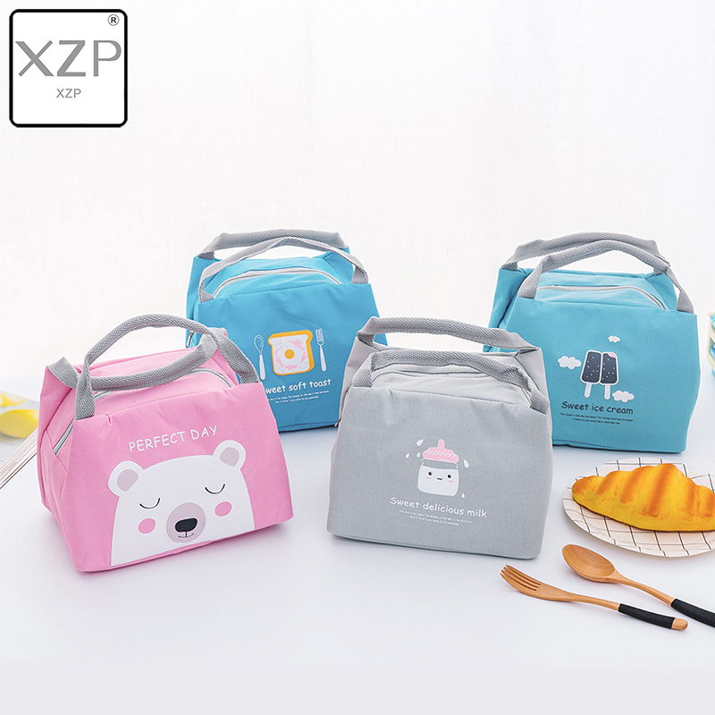 XZP Cartoon Baby Food Insulation Bag Portable Waterproof Thermal Oxford Lunch Bags Convenient Leisure Cute Picnic Outdoor Tote