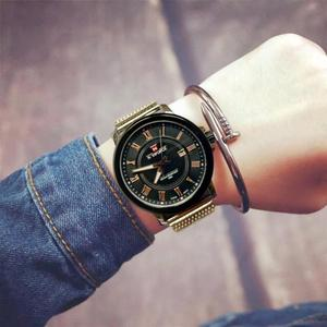 Image 2 - Naviforce Для мужчин кварцевые часы Элитный бренд Повседневное Для мужчин спортивные наручные часы Нержавеющаясталь группа Водонепроницаемый мужской Relogio Masculino