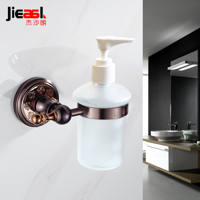 Bronze Liquid Soap Dispenser Brass Double Bathroom Soap Dispenser