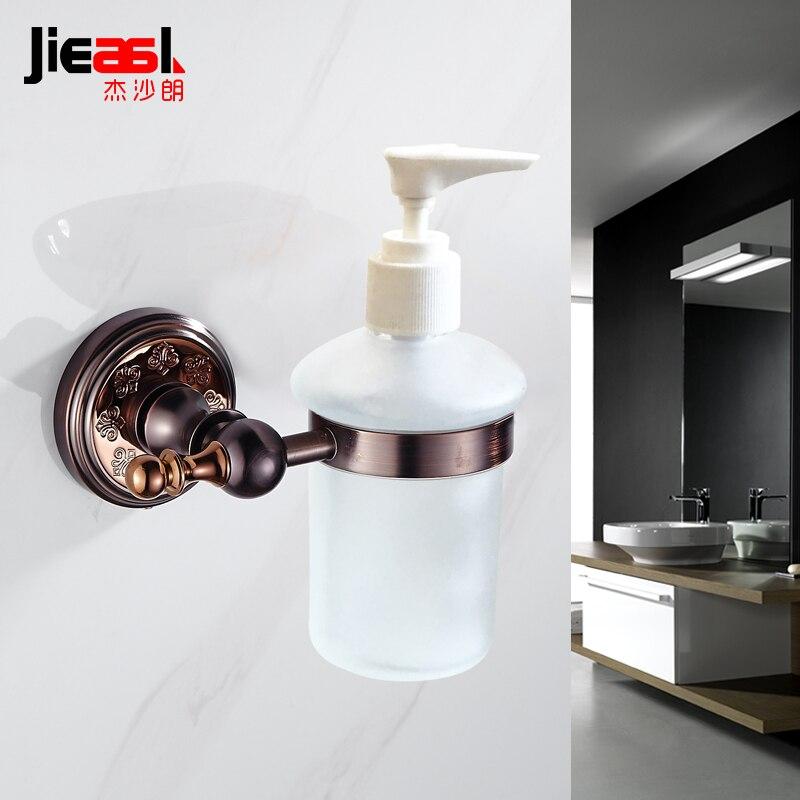 Distributeur de savon liquide en Bronze distributeur de savon Double salle de bain en laiton distributeur de savon liquide mural