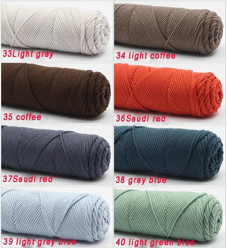 100g/pcs Natural Soft Silk Milk Cotton Yarn Thick Yarn For Knitting Lover Scarves Knitting Wool crochet yarn weave thread 11