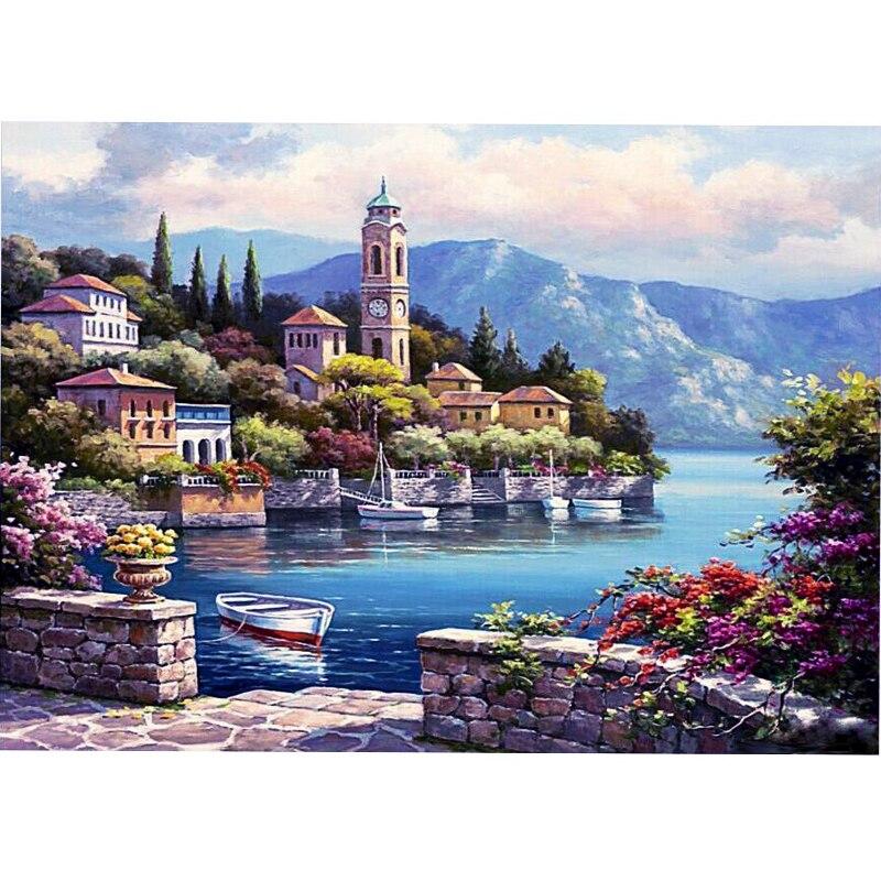 hot limitata il mar pittura a olio digitale diy wall art decorazione della casa di