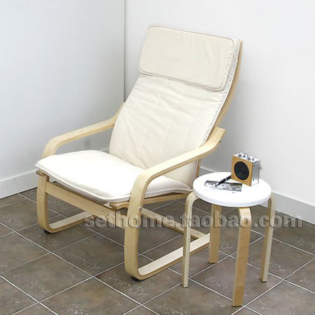 Ikea Wooden Chairs Revolving Chair Specification Cheap Bonn Style Single Fabric Sofa Lounge Wood Armchair Bentwood Balcony