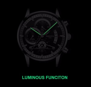 Image 4 - NIBOSI  Fashion Men Watch Men Automatic Mechanical Wrist Wristwatch Stainless Steel Male Clock
