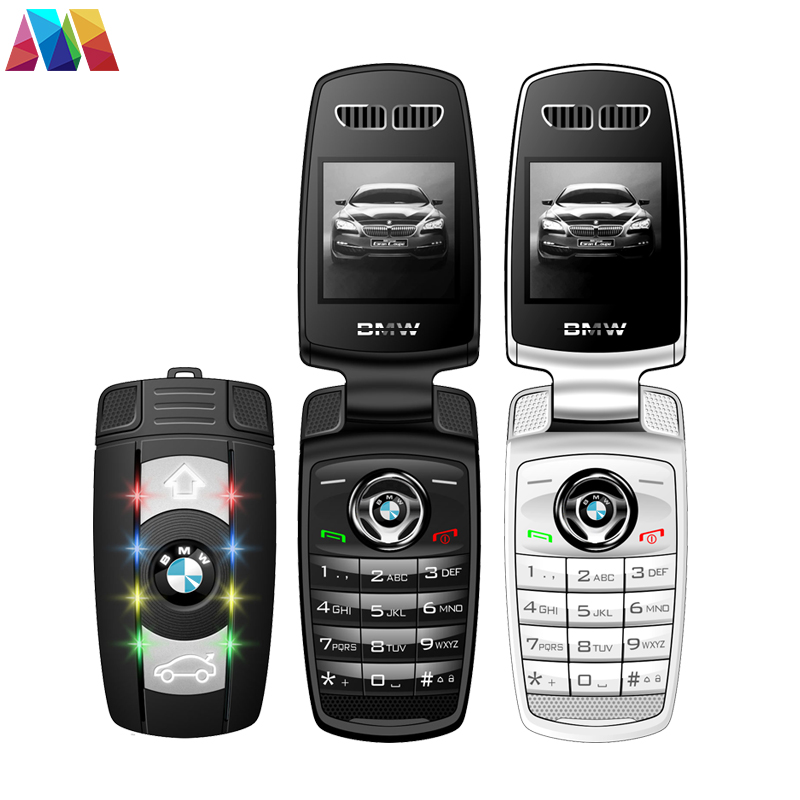 Super Mini Flip Phone Keychain X6 Cell Phone With