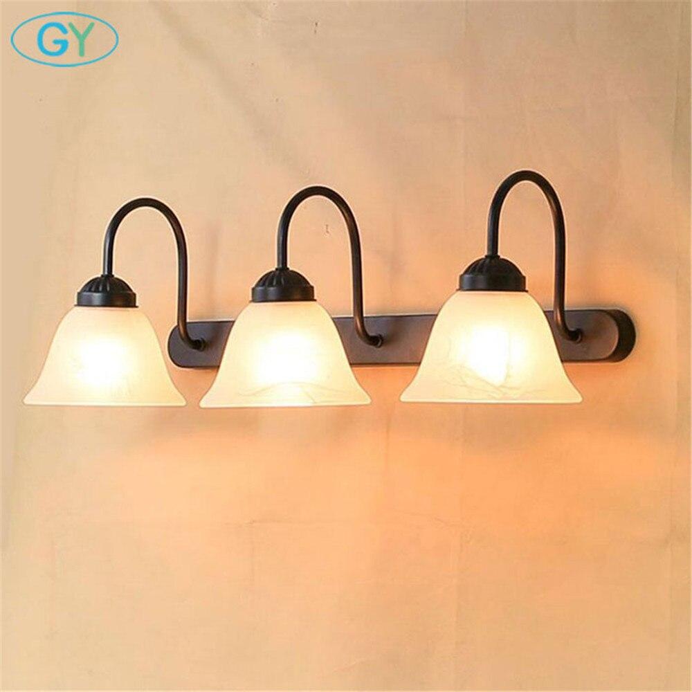 AC110V 220V 240V vintage 3 pièces E27 ampoule LED avant miroir lumière moderne salle de bain vanité mural LED luminaire - 2
