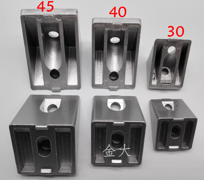 Corner Fittings 3030 4040 4545 Oblique Corner Bracket 45 Degree Connector For 3030 4040 4545 Aluminum Profile