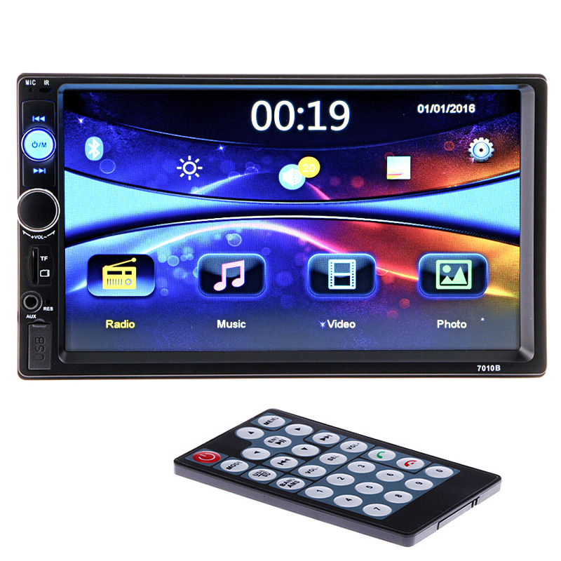 2 din Car Radio Player 7'' Bluetooth Stereo FM Multimedia Video Audio MP3 MP4 MP5 USB AUX Auto Electronics autoradio Universal 2 din 7 car radio player hd rear view camera bluetooth stereo fm mp3 mp4 mp5 audio video usb auto electronics autoradio charger