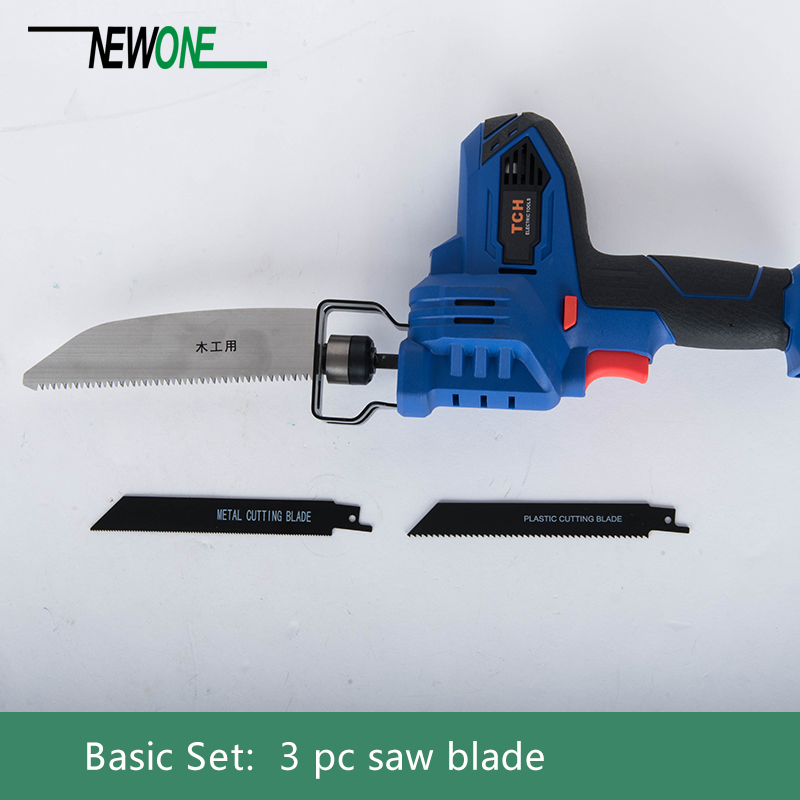 TCH 16V Portable Charging Reciprocating Saw with 4000mAh lithium battery plus Sharp Saw Blades for Wood/Metal/Plastic Cutting все цены