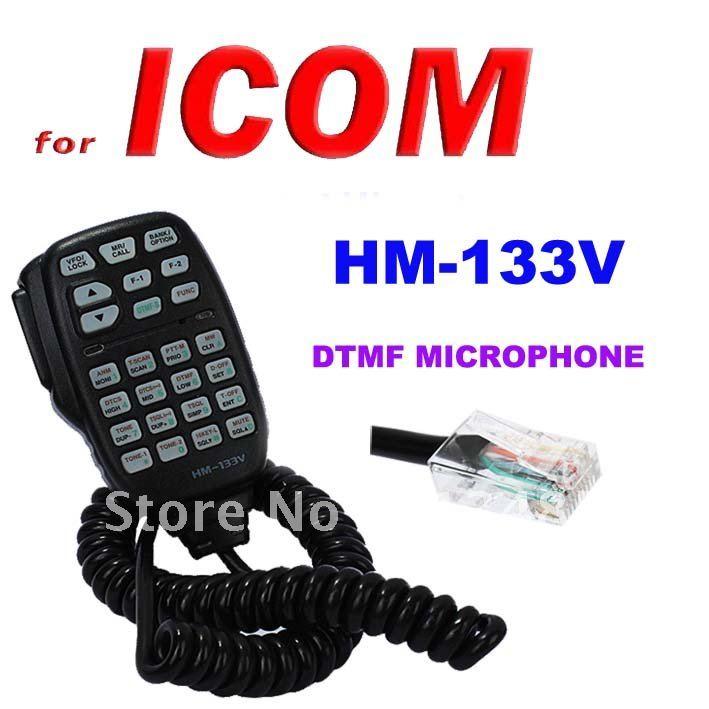 imágenes para Hm-133v DTMF micrófono con teclado iluminación para ICOM transceptor móvil IC / 208 H / 2100 h, 2200 h, 2720 h, 2725e, V8000