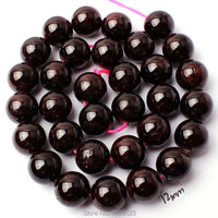 Free Shipping 12mm Smooth Natural Wine Red Color Garnet Stone Round Shape DIY Gems Loose Beads