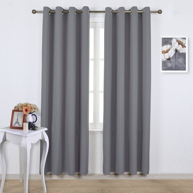 120cm High Bay Window Purple Blackout Curtains For Bedroom Solid Color Curtain Living Room Greey Customized S27830