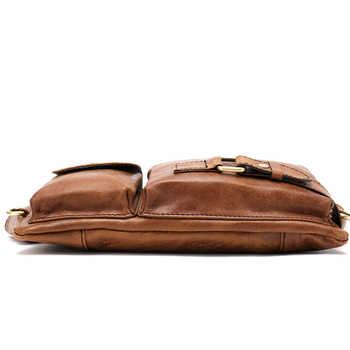 WESTAL Messenger Bag Men Leather Sling Bags for Phone Men\'s Shoulder Bags Men\'s Genuine Leather Bags Travel Chest Pack Male 9080