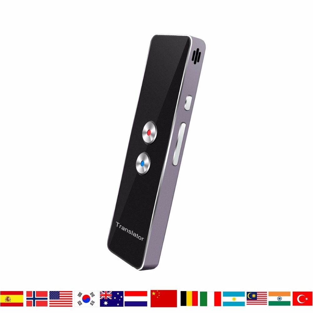 HBUDS Smart traductor de voz de dos vías en tiempo Real Multi-idioma traducción para aprendizaje viajar reunión de negocios