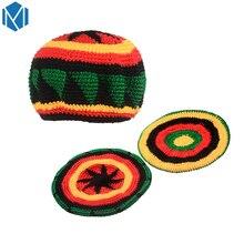 36dba1c42c2 C Hip-Hop Jamaica Beanie Hat Rasta Reggae Dreadlock Braid Knitted Gorros  Bob Beret Hat