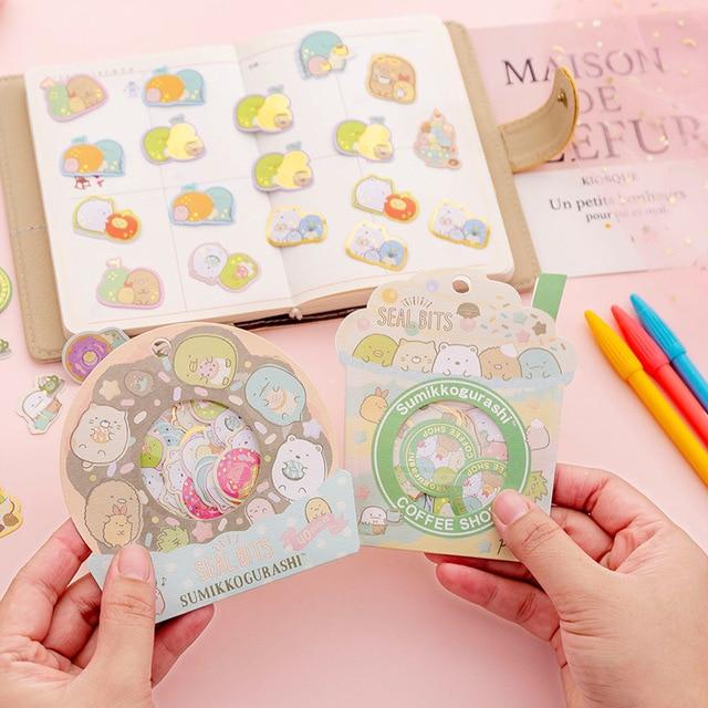24 pack/lot Sumikko Gurashi Mini sac décoratif papeterie autocollants Scrapbooking bricolage journal Album bâton étiquette