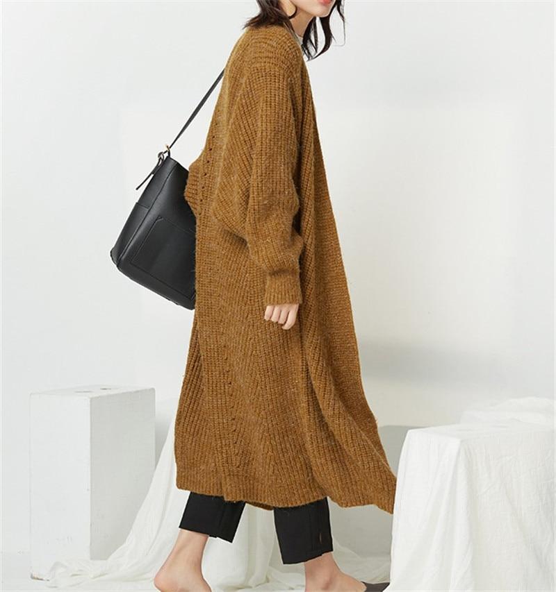 OCEANLOVE sólido grueso punto Cardigan cuello en V de manga larga caliente Casual ropa de invierno nuevo Chic coreano moda mujer suéter 10411-in Caquetas de punto from Ropa de mujer    2