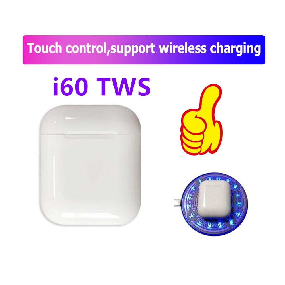 I60 TWS Wireless Bluetooth 5.0 Earphones Sport Earbuds Headset For Iphone Android PK I10 Tws I12 I13 I15 I20 I30 I80 I100 TWS