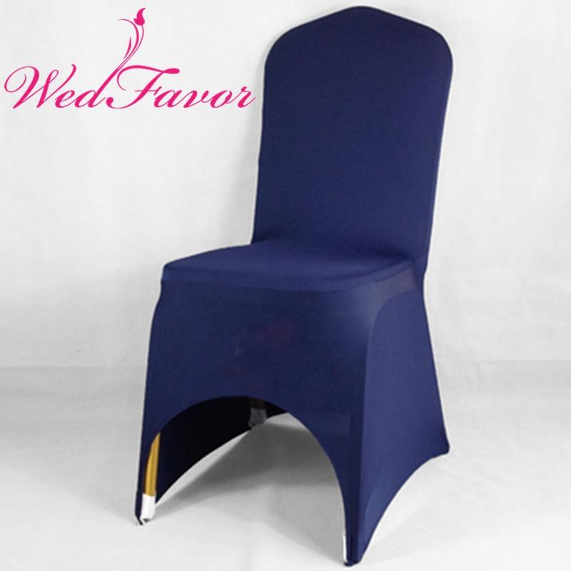 Wedfavor 100pcs Navy Blue Stretch Lycra Spandex Banquet