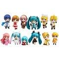 12 pçs/lote Família Figuras Vocaloid HATSUNE MIKU Rin Len Ruka Kaito Meiko Anime Figura Toys Nova na Caixa Frete Grátis
