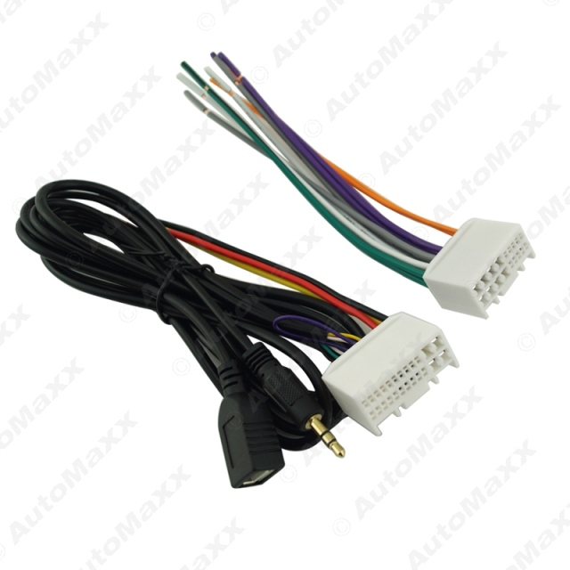 Car Audio CD Stereo Wiring Harness Adapter With USB AUX Plug For Kia K2 K5 Sportage_640x640 aliexpress com buy car audio cd stereo wiring harness adapter Car Radio Wiring Harness Diagram at crackthecode.co