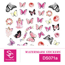Sweet City Nail Art Gel Polish Water Transfer Stickers For Manicure Beauty Butterfly Nail Tools Acrylic