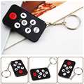 Mini Pocket Size Keychain with battery Universal Infrared IR TV Set Remote Control Key Ring 7 Keys For Philips Black Easy Carry