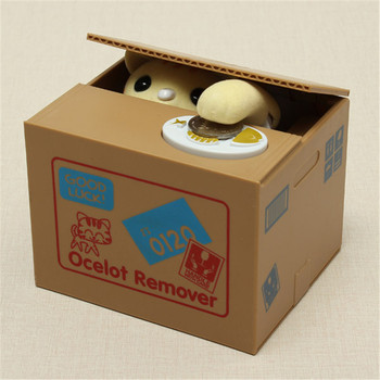 Электрический милый мультфильм автоматический прекрасный кот кража банк экономия коробка монета подарок для детей Детские игрушки