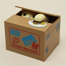 Electric Cute Cartoon Automated Lovely Cat Stealing Bank Saving Box Coin Bank Gift for Children Kids
