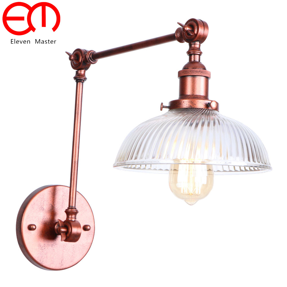I Style Retro industrial wind aisle staircase corridor bar simple creative restaurant long arm wall lamp led light RWL0009 m best price vintage industrial style loft balcony aisle stairs corridor creative minimalist restaurant bar long arm wall lamp