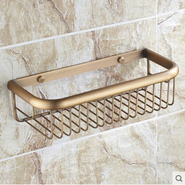 Antique Bronze Brass Bathroom Shelves Square Bathroom Shelf 45cm ...