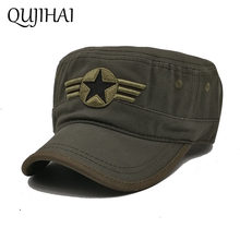 d075e98890c QUJIHAI The US Air Force Flat Camouflage Cap Men Fitted Hat Cotton Army  Snapback Caps Five-Pointed Star Bone Gorra