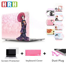 HRH Japanese Tradition Kimono Hard Plastic Case Laptop Body PC Shell Protective for MacBook Air Pro Retina 1315Touch Bar