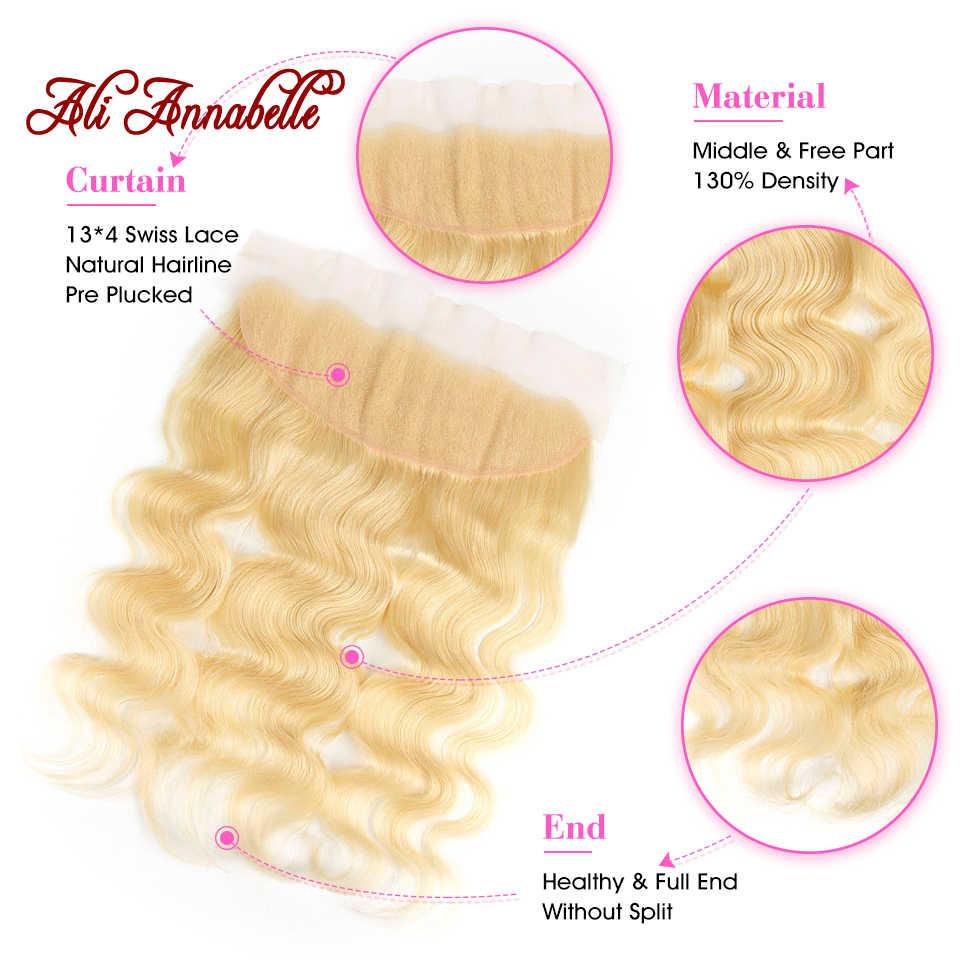 613 пучков с фронтальным бразильским объемным волном человеческие волосы с фронтальным закрытием светлые человеческие волосы с фронтальным закрытием с пучками