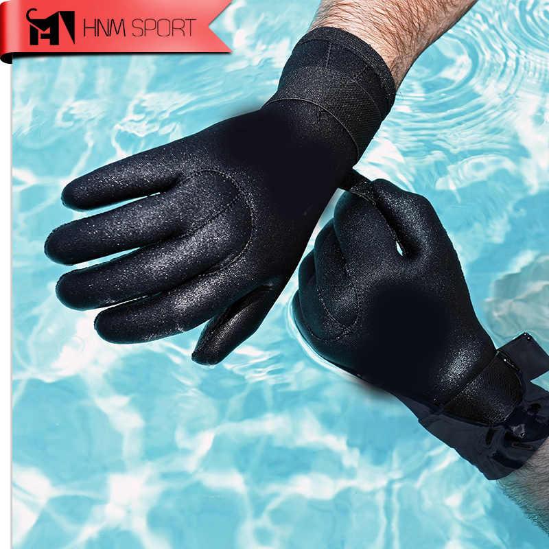 """2017 כפפות הצלילה ניאופרן 3 מ""""מ חדש גברים כפפות ציוד צלילה לspearfishing להתחמם שחייה באיכות גבוהה משלוח חינם"""