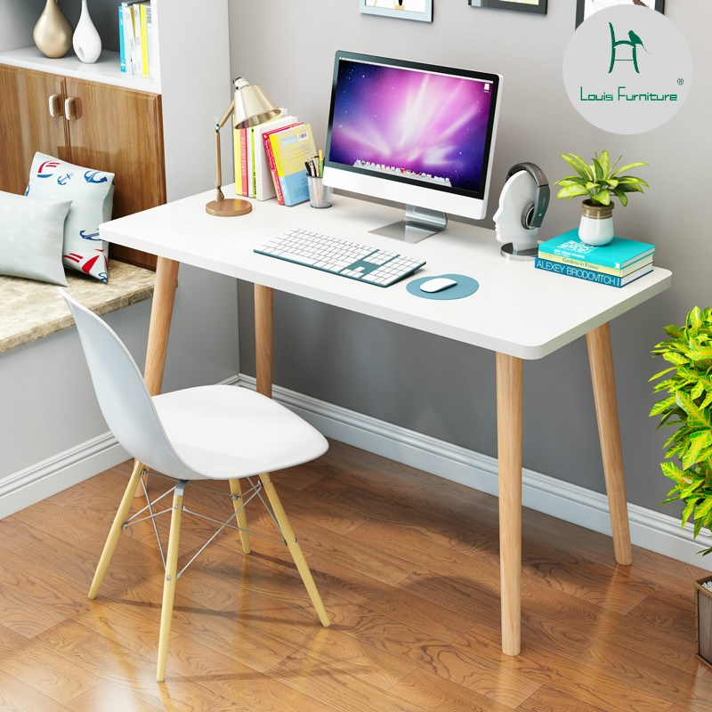US $54.9 |Louis Fashion Computer Desks Nordic Desktop Simple Table  Bedroom-in Computer Desks from Furniture on AliExpress
