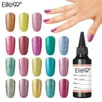 Elite99 34 цвета Блестящий Платиновый гель лак для ногтей 60 мл мерцающий блеск для избранного стойкий лак