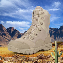 купить High-top Outdoor Waterproof Hiking Shoes for Men Desert Military Tactical Boots Combat Army Boots Hunting Shoes Big Size 45 онлайн