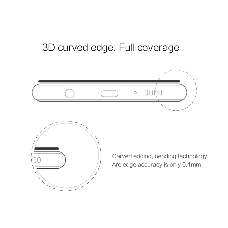 Image 5 - Nillkin For samsung galaxy s10/s10 plus/s10e tempered glass screen protector fully covered 3D CP+ Max 9H 0.33mm 5.8/6.11/6.4-in Phone Screen Protectors from Cellphones & Telecommunications