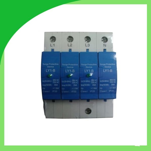 Ly1-B (10/350) 25ka 4pole Widely Used Surge Protector Electric Equipment Protective Device uribe кулон из позолоченной меди с лазуритами edie