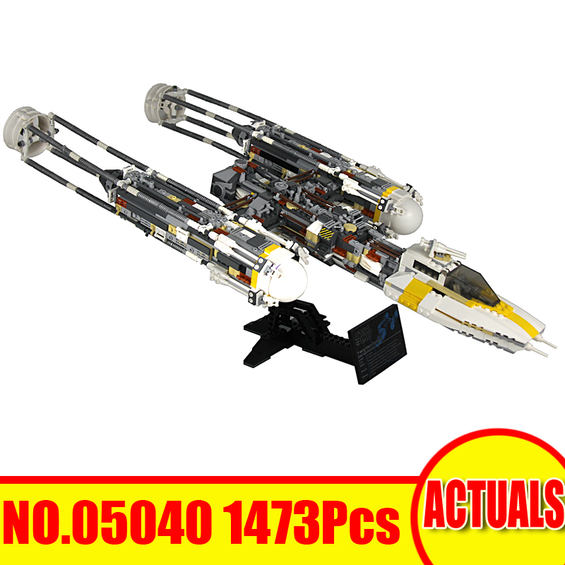 2018 New 1473Pcs 05040 Lepin Star Wars Model Building Kits Y-wing Attack Starfighter Blocks Bricks Children Toy Compatible 10134 a toy a dream lepin 15008 2462pcs city street creator green grocer model building kits blocks bricks compatible 10185