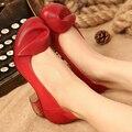 2017 Ретро-Стиле Ручной Работы Женская Обувь Насосы Натуральная Кожа Коренастый Пятки Круглый Носок На Низком Каблуке