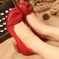 2017 Estilo Retro Hechos A Mano Zapatos de Las Mujeres Bombas Tacones Gruesos de Cuero Genuino Punta Redonda de Tacón Bajo