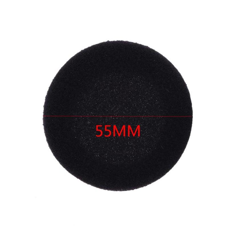 5 Pairs ( 10pcs ) 55mm Headset Ear Cushions Black Soft Sponge Ear Pads Protector Earpads Replace foam earpads for Headphones